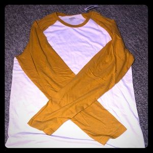 Brand new color block long sleeve shirt